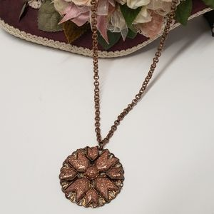Gorgeous Sand Dust Style Flower Necklace